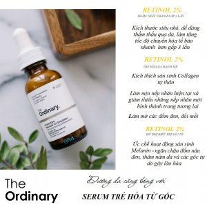 The Ordinary Granactive Retinoid 2% Emulsion (Tinh chất dưỡng da căng bóng, công thức mới an toàn không kích ứng)
